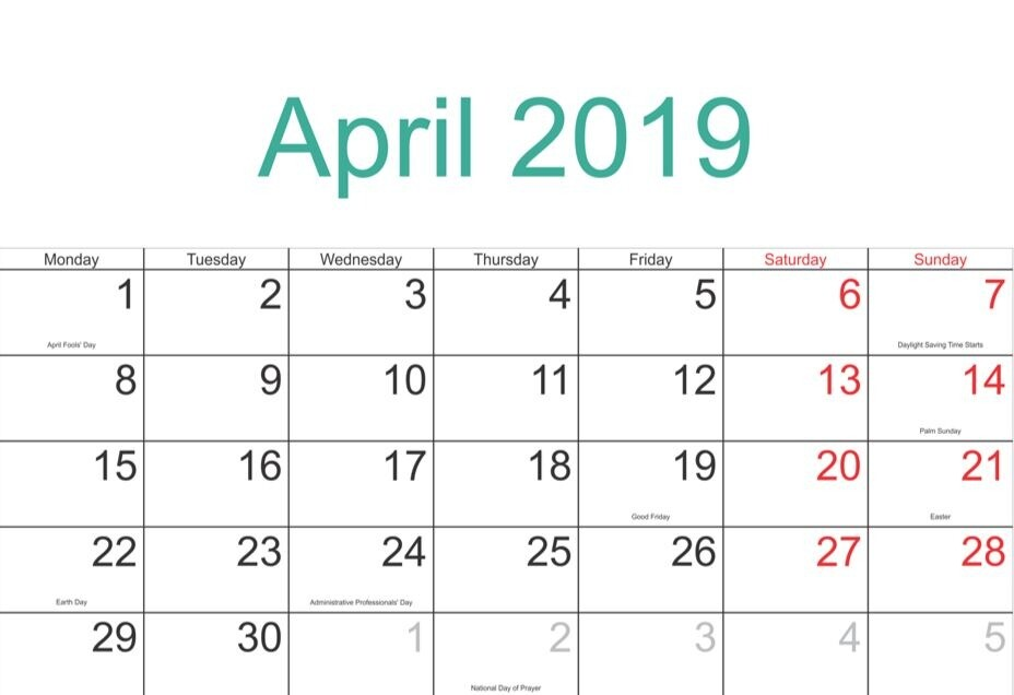 April 2019 Loan Charge
